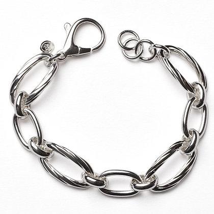 Southern Gates Sterling Silver Oval Link Bracelet