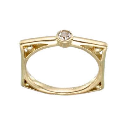 18k Yellow Gold Diamond Ring from Steven Battelle