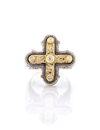 Konstantino Diamond Cross Ring