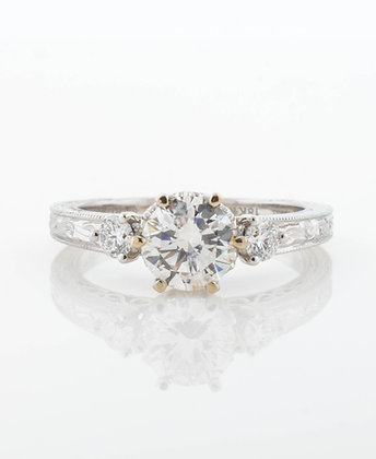 18k White Gold Diamond Semi-Mount