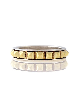 Sterling Silver And Yellow Gold Lagos Band