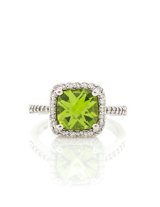 14k White Gold Peridot Ring