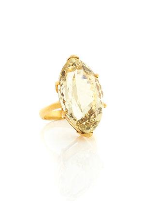 18K Yellow Gold Lemon Quartz Ring