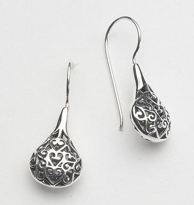 Southern Gates Sterling Silver Filigree Ball Earrings