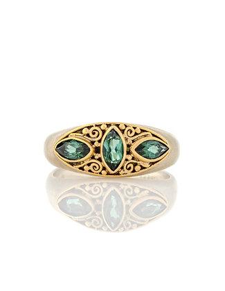 14K White Gold Tourmaline Ring