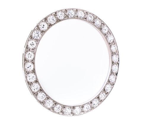 Circular Diamond Brooch
