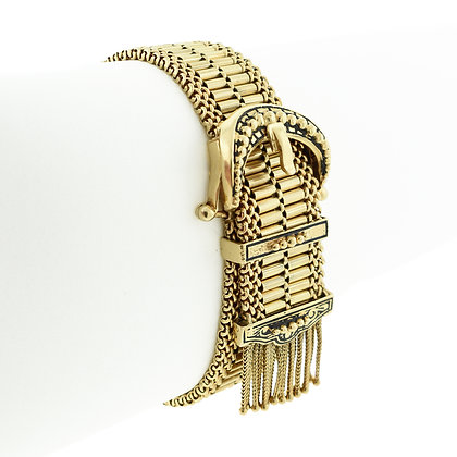 Vintage 14k Yellow Gold Buckle Bracelet