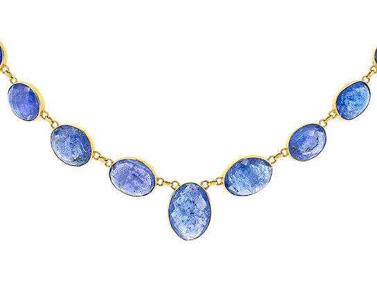 18k Yellow Gold Tanzanite Necklace