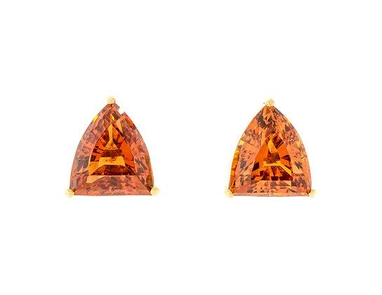 18K Yellow Gold Madeira Citrine Earrings
