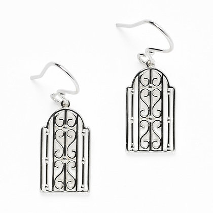 Southern Gates Sterling Silver Biltmore Transom Earrings