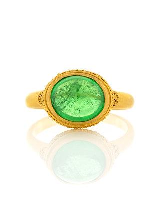 22K Yellow Gold Tsavorite Garnet Ring