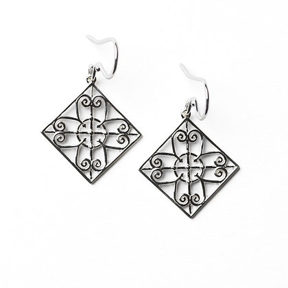 Southern Gates Sterling Silver Terrace Piazza Gate Earrings