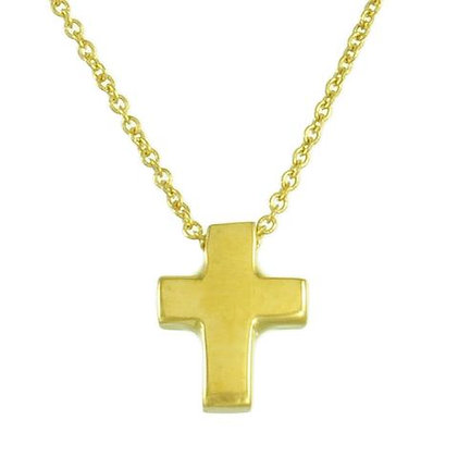 Sterling Silver & Gold Plated Cross Necklace