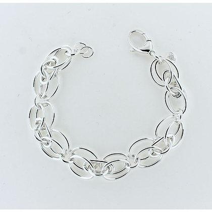 Southern Gates Sterling Silver Double Oval Link Bracelet