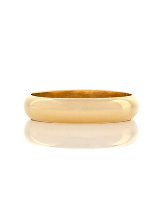 14k Yellow Gold Half Round Wedding Band