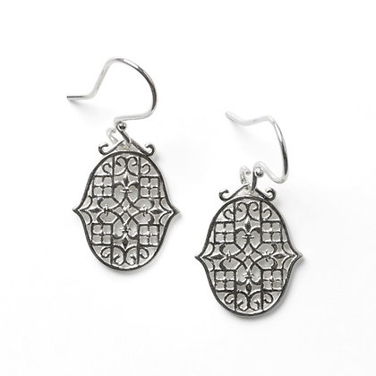 Southern Gates Sterling Silver Biltmore Fleur De Lis Earrings