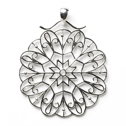 Southern Gates Sterling Silver Art Deco Ornate Burst Pendant