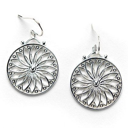 Southern Gates Sterling Silver Art Deco Sunburst Earrings