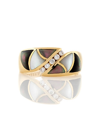 14k Yellow Gold Kabana Mother Of Pearl Ring
