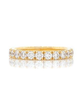 14K Yellow Gold European Style Diamond Band