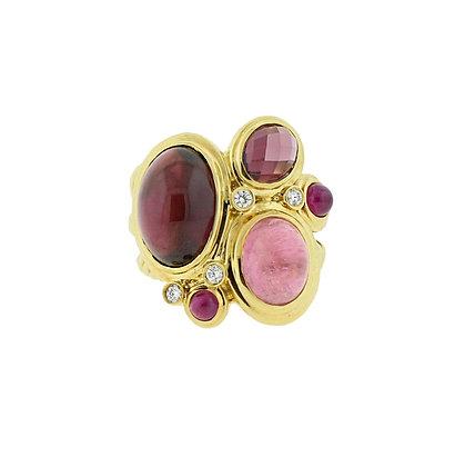 18k Yellow Gold David Yurman Mosaic Ring