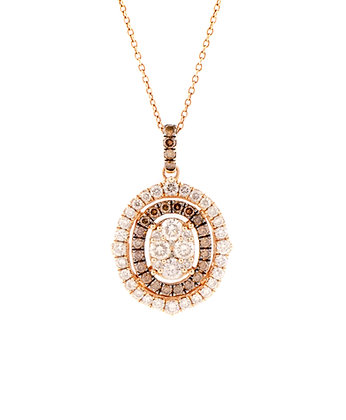14k Rose Gold LeVian Diamond Necklace, 20""