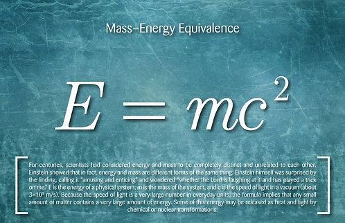 Mass–Energy Equivilance