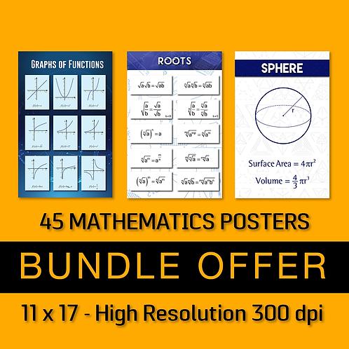 45 Algebra and Geometry Posters