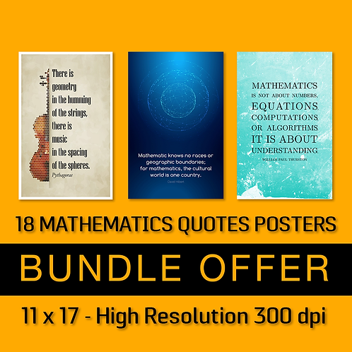 18 Mathematics Quotes Posters