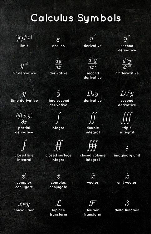 Calculus Symbols