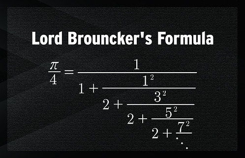 Lord Brouncker's Formula