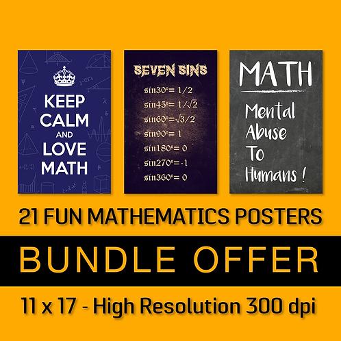 21 Fun Mathematics Posters
