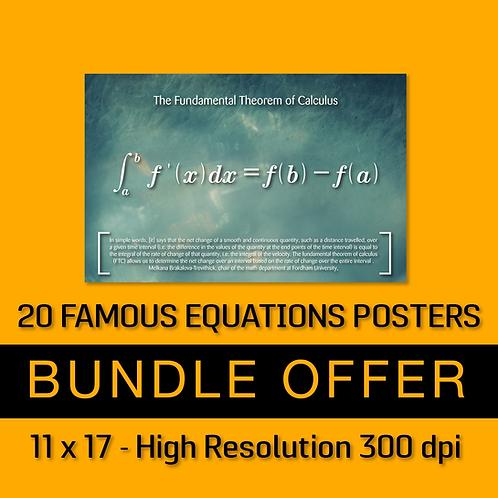 20 Famous Mathematics Equations