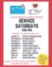 Middle School Ministry Service Saturdays