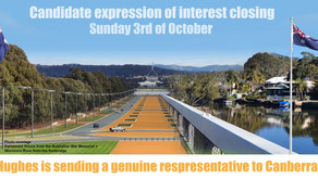 Candidate expression of interest closing Midnight 3rd of October