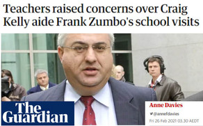 Teachers raised concerns over Craig Kelly aide Frank Zumbo's school visits