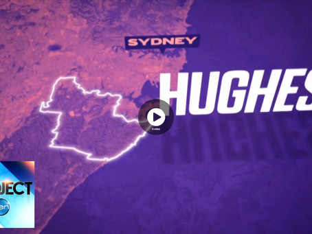 We are Hughes on The Project  channel 10