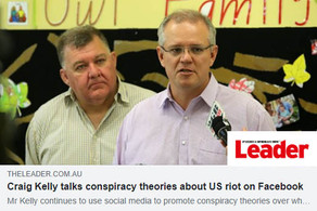 Craig Kelly talks conspiracy theories about US riot on Facebook