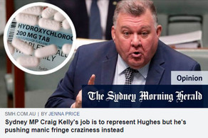 Sydney MP Craig Kelly's job is to represent Hughes but he's pushing manic fringe craziness instead