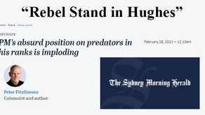 Rebel stand in Hughes - opinion piece by Peter Fitzsimons
