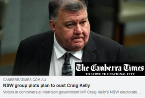 Canberra Times: NSW group plots plan to oust Craig Kelly