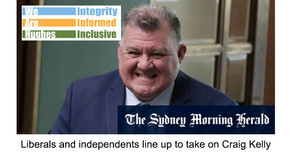 'Pete Evans in the party room': Liberals, independents line up to take on Craig Kelly