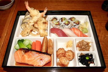 Sushi & Salmon Bento Box