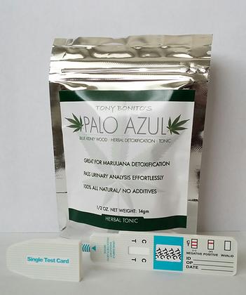 Tony Bonitos Palo Azul + 2 Single Panel Drug Tests