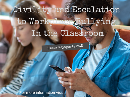 Civility and Escalation to Workplace Bullying In the Classroom