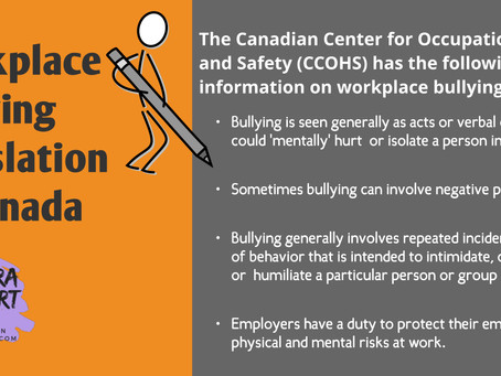 Workplace Bullying Legislation in Canada