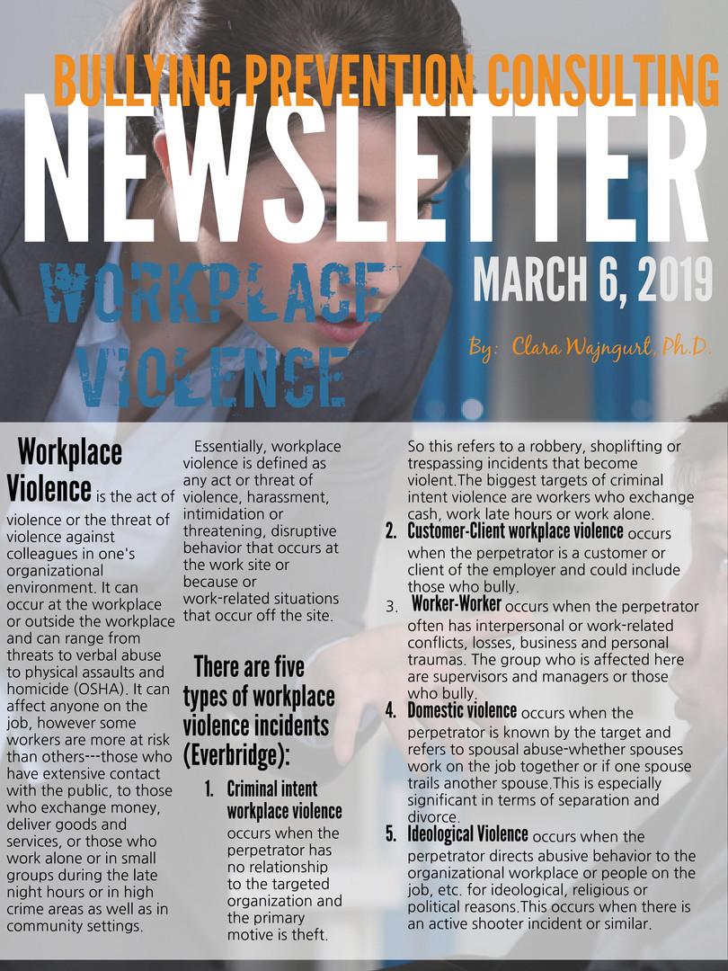 Newsletter March 2019