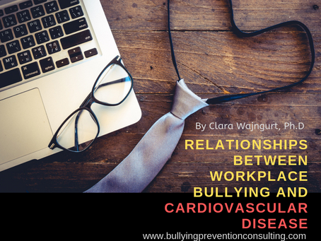 Relationships between Workplace Bullying And Cardiovascular Disease