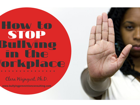 How to Stop Bullying in the Workplace