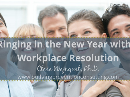 Resolution for the New Year: Get Rid of Toxic Workplaces